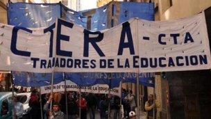 La Escuela Itinerante de Ctera reclama una paritaria nacional