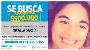 Micaela García: Ofrecen $500 mil de recompensa por información