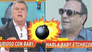 Duro cruce entre Baby Etchecopar y Luis Ventura
