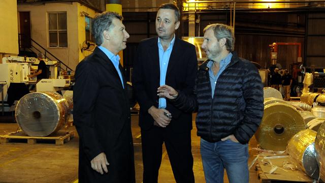 Macri y Frigerio con el intendente de Basavilbaso.