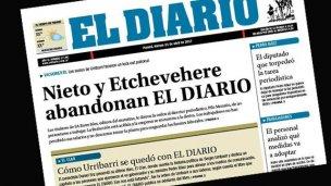 Lo escrito, escrito está: La tapa de El Diario que nadie pudo prever