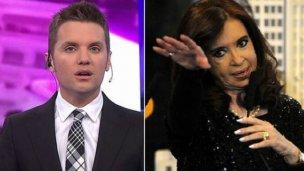 CFK se enojó con los medios y Santiago del Moro le contestó