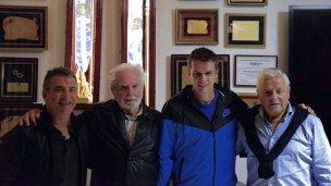 El abrazo de Urribarri: Juntó a O'Donnell, Cresto y Lauritto, en su casa de Concordia