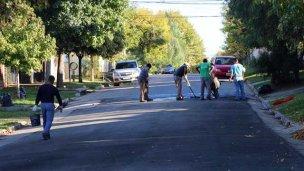 Repavimentación de calle Lugones
