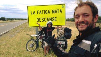 Un argentino que unirá toda América en moto pasa por Colón