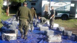 Detectan otros 1200 kilos de marihuana en Ruta 14