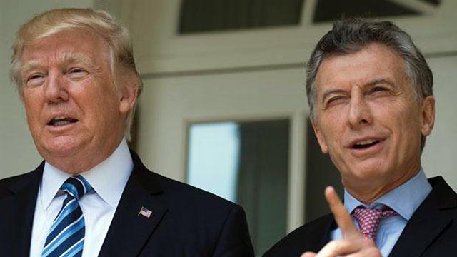 EL PRESIDENTE ARGENTINO SE REUNIÓ CON EL MANDATARIO ESTADOUNIDENSE DONALD TRUMPTrump