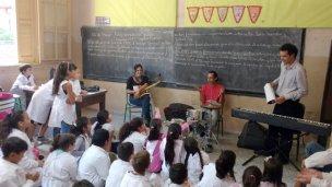 Gervasio Ledesma llevó música a la Escuela 60