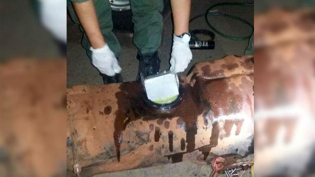 66 kilos de cocaína ocultos en un tanque de combustible