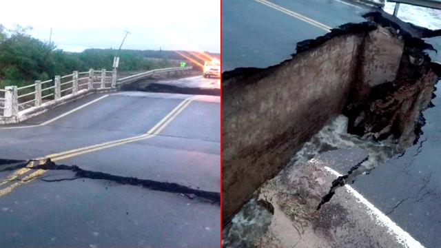 Se derrumbó un puente de la Ruta 12, camino a Posadas — Corrientes