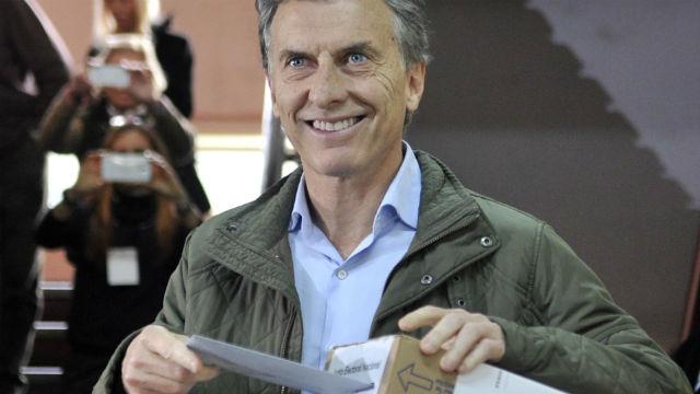 9 de agosto de 2015: Macri compitió en las PASO.