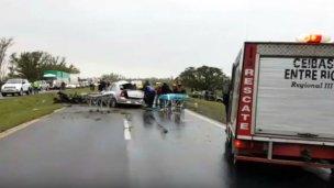 Estabilizaron al sobreviviente del trágico choque en Ruta 12