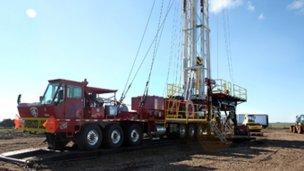 Todo pronto para perforar en busca de petróleo o gas