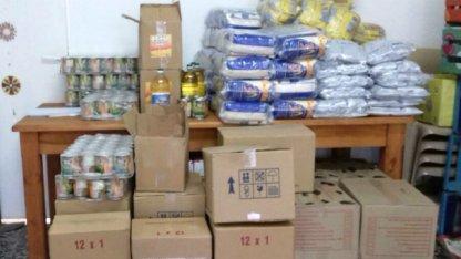 El gobierno nacional envió 150 módulos alimenticios a Villa Elisa