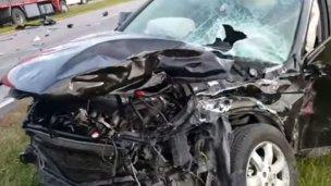 Argentino se accidentó en uno de los accesos a Paysandú