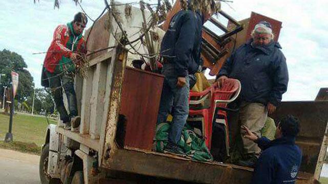 Evacuan familias de Concordia por la crecida del Río Uruguay