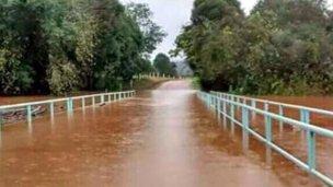 Varias rutas cortadas en Misiones por la crecida del río Uruguay