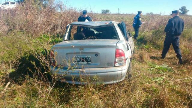 Un muerto por un vuelco en la ruta 20, cerca de Urdinarrain
