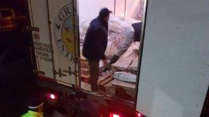Autovía 14: secuestraron más de 500 kilos de pollo