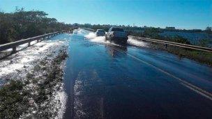 Las inundaciones afectan a cinco rutas nacionales