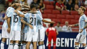 Media docena de goleadores, en la victoria de Argentina
