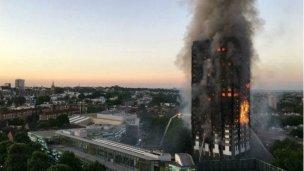 Enorme incendio en Londres: al menos 6 muertos y 64 heridos
