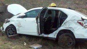 Una familia resultó herida al despistar en la autovía