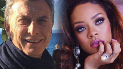 Macri le respondió a Rihanna
