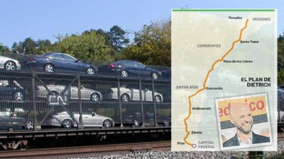 Proyectan reflotar el tren de carga a Brasil y renovar 1.030 km de vías
