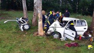 Padre e hija fallecieron en una ruta uruguaya