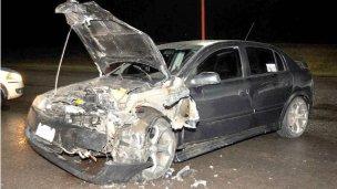 Accidente en ruta 135 y San Martín