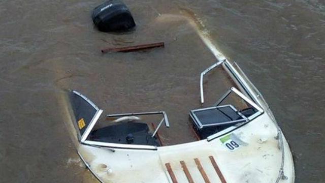 Así quedó la embarcación que llevaba a 3.