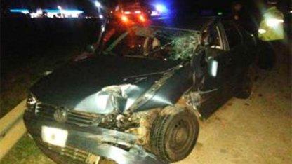 Violento impacto frontal en la autovía