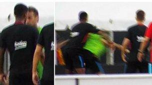 Neymar, a los golpes con un compañero en Barcelona