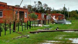 Las tormentas volvieron a golpear al sur entrerriano