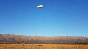 Exitoso bautismo de vuelo de un aerostato fabricado en Entre Ríos