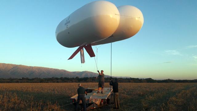 El aerostato fabricado en Concordia