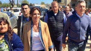 En el comienzo de campaña, Macri encabezó un timbreo en Entre Ríos