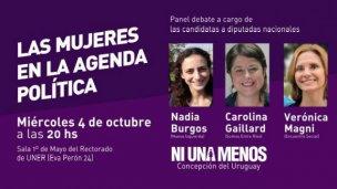"""Debate """"Las mujeres en la agenda política"""""""