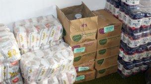 Llegaron 120 módulos alimenticios para familias elisenses