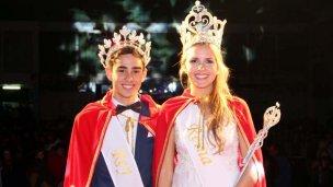 Agustina y Facundo, reyes de los estudiantes de Concordia