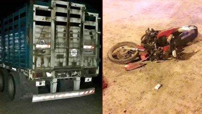 Murió al estrellarse de lleno contra el acoplado de un camión