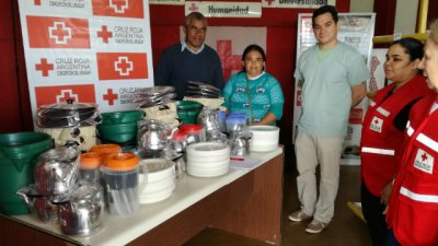 Desde la Cruz Roja donaron elementos de cocina a los comedores