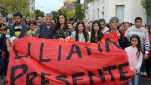 """Multitudinario grito en Gualeguaychú: """"¡Liliana presente!"""""""