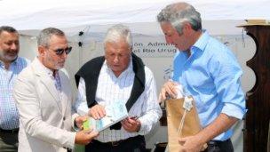 Autoridades de la CARU presentes en la Expo Rural