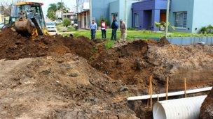 Obras de entubado y pavimentación