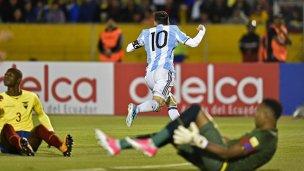 Argentina triunfó ante Ecuador y clasificó al Mundial de Rusia