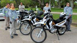 Motos enduro para patrullar las calles
