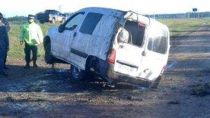 Dos heridos tras un vuelco en la Autovía Artigas
