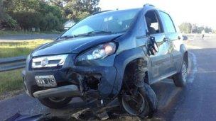 Violento despiste en la Autovía